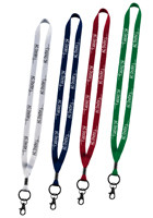 Polyester Lanyards with Metal Bulldog Crimp