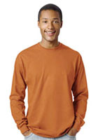 Wholesale Hanes 6.1 oz Tagless Label Beefy-T Long Sleeve Tees