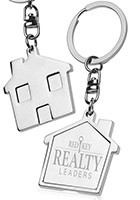 Promotional House Metal Keychains