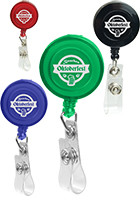 Personalized Retractable Round Badge Holders with Alligator Clip
