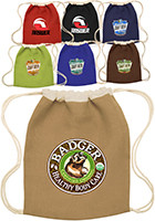 Jute Drawstring Backpacks