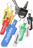 Custom Key Shaped Soft Keychains
