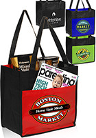 Customized 12 W x 12 H Lami-Combo Shopper Totes