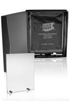 Personalized Large Chroma Glass Awards with Double Stand