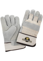 #LE191402 Leeds� Safety Works Double Palm Leather Custom Work Gloves