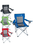 #X10035 Personalized Mesh Folding Chairs with Carrying Bag