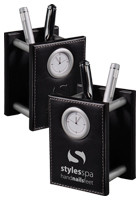 Personalized Metropolitan Pencil Cup Clocks