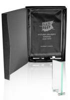 Promotional Mid Size Chroma Glass Awards with Double Stand