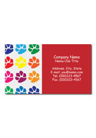 Custom Multicolored Paw Prints 3.5inch x 2inch Magnets