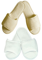 Personalized OPEN TOE TERRY SLIPPER WITH VELCRO CLOSURE