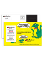 Custom Perforated Postcard 5.25inch x 8.5inch Magnets