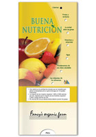 #X11060 Promotional Good Nutrition Pocket Sliders (Spanish)