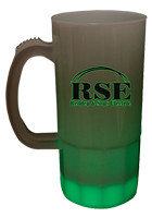 Customized Promo Green LED Glow Light Up Neon Look 20 oz Beer Mugs