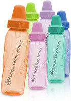 #IL409 Promotional 8 oz Assorted Color Evenflo Baby Bottles