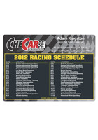 Customized Racing Schedule 4.13in x 5.75 in Magnets