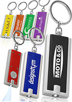 KEY01 - Personalized Logo Rectangle Light Keychains at Wholesale Prices