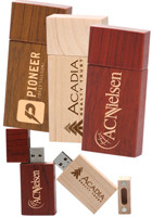 Custom 8GB Rectangle Wood USB Flash Drives