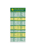 Promotional Schedule 8in x 3.5in Magnets