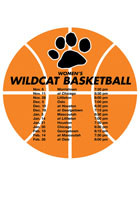 Custom Printed Schedule Basketball 5.75in x 5.75in Magnets