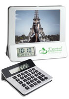 #SDPF104 Personalized 3-in-1 Calculator/ Picture Frame/ LCD Digital Clocks