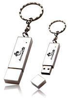 Personalized 4GB Silver Metal USB Keychains
