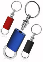 KEY59 - Sophisticated Colored Metal Chrome Keychains
