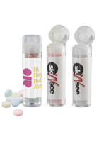 Personalized Sugar-Free Mints in Small Round Flip-Top Tube Dispenser