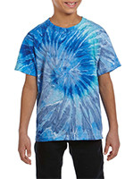 Customized Tie-Dye Youth Cotton Tie-Dyed T-Shirts