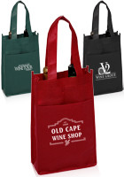 Promotional 7W x 11H Vineyard Two Bottle Wine Bags