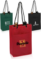 Personalized 7W x 11H Non-Woven Double Wine Bags
