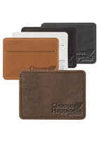Personalized Traverse Leather Slater Single Pocket Wallets