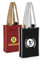 Wholesale 7W x 11H Two Bottle Non-Woven Wine Bags
