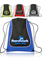 Customized 14W x 17H Two-Tone Drawstring Backpacks