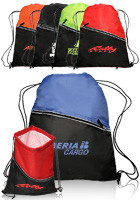 Customized 14W x 18H Two-Tone Insulated Drawstring Sports Packs
