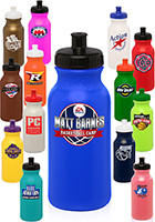 WB20 - #WB20 20oz Plastic Custom Water Bottles