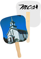 Bulk White Church Hand Fans