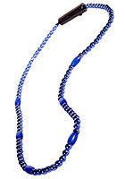 LED Light-Up Beaded Blue Necklaces | WCLIT491