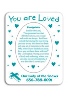 Promotional You are Loved 3in x 3.75in Magnets