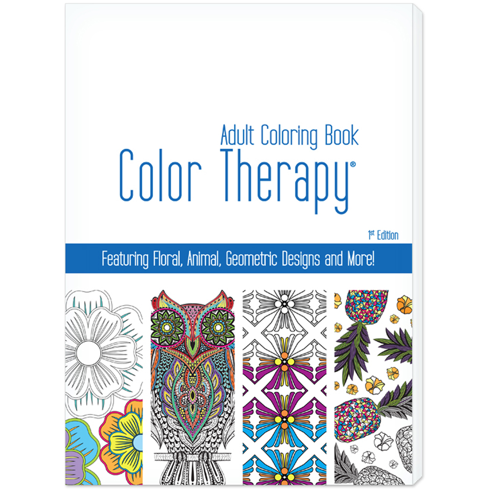 Printed 24 Page Color Therapy Adult Coloring Book - USA Made ...