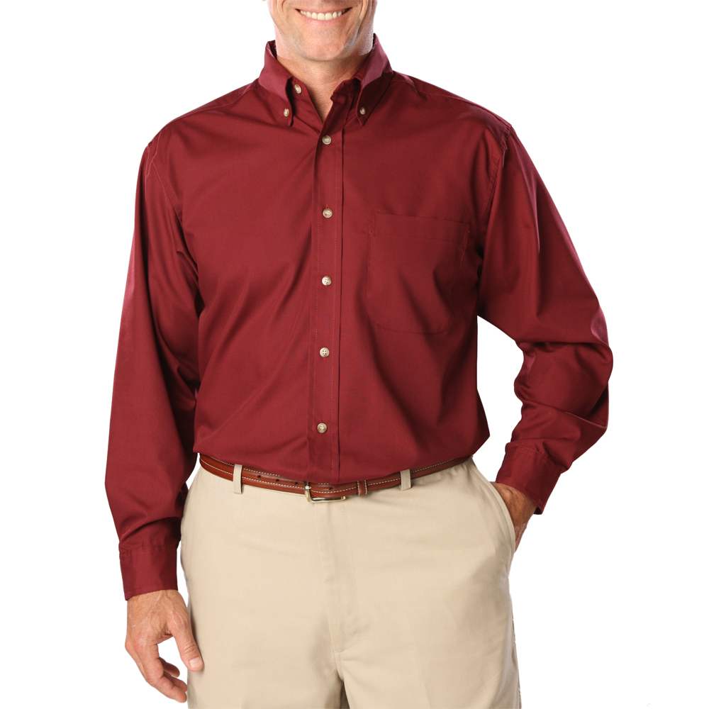 Custom Men's Long Sleeve Stain Release Poplin Shirts (5.5 Ounce)